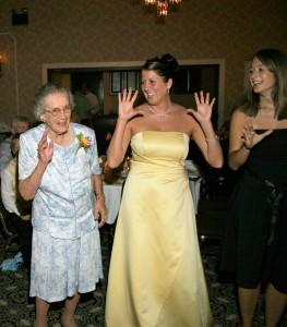 Grandma Helen doing the chicken dance in 2006.