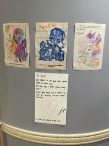 Pictures from the kids and a note from 3 East